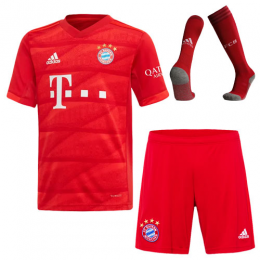 19-20 Bayern Munich Home Red Jerseys Whole Kit(Shirt+Short+Socks)