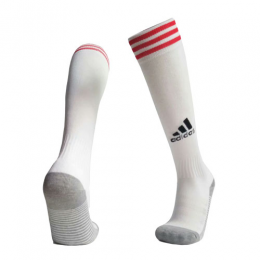 19-20 Ajax Home White Soccer Jerseys Socks