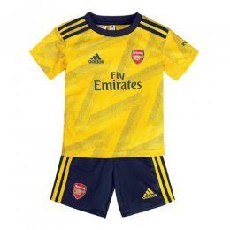 19/20 Arsenal Away Yellow Children's Jerseys Kit(Shirt+Short)