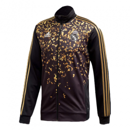 19/20 Real Madrid EA Sports Fourth Black&Golden High Neck Collar Training Jacket