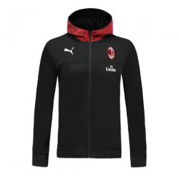 19/20 AC Milan Black Hoodie Jacket