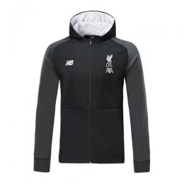 19/20 Liverpool Black Hoodie Jacket