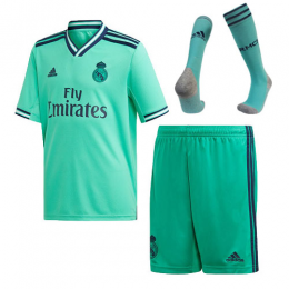 19-20 Real Madrid Third Away Green Soccer Jerseys Whole Kit(Shirt+Short+Socks)