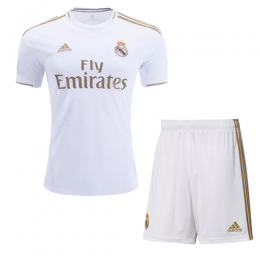 19-20 Real Madrid Home White Soccer Jerseys Kit(Shirt+Short)