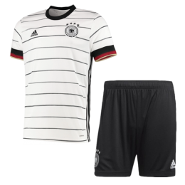 2020 Germany Home White Jerseys Kit(Shirt+Short)