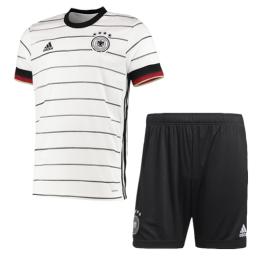 2020 Germany Home White Jerseys Kit(Shirt+Short)