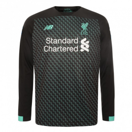 19/20 Liverpool Third Away Black&Green Long Sleeve Jerseys Shirt