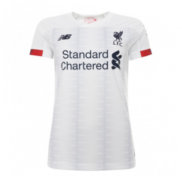 19-20 Liverpool Away White Women's Jerseys Shirt