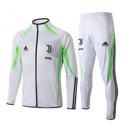19/20 Juventus X Palace White&Fluorescent Green High Neck Collar Training Kit(Jacket+Trouser)