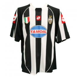 02/03 Juventus Home Black&White Soccer Retro Jerseys Shirt