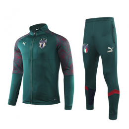 2019 Italy Dark Green High Neck Collar Training Kit(Jacket+Trouser)