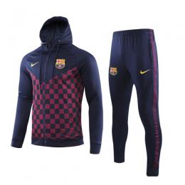 19/20 Barcelona Navy&Square Hoody Training Kit(Jacket+Trousers)