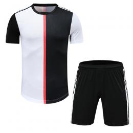 Juventus Style Customize Team Black&White Soccer Jerseys Kit(Shirt+Short)