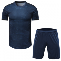 Real Madrid Style Customize Team Navy Soccer Jerseys Kit(Shirt+Short)