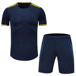 Arsenal Style Customize Team Navy Soccer Jerseys Kit(Shirt+Short)