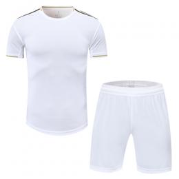 Real Madrid Style Customize Team Black&White Soccer Jerseys Kit(Shirt+Short)