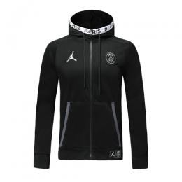 19/20 PSG Black Hoodie Jacket
