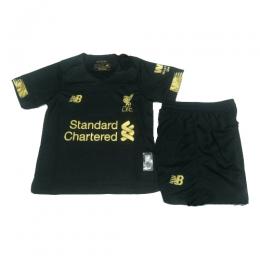 19-20 Liverpool Goalkeeper Black Children's Jerseys Kit(Shirt+Short)