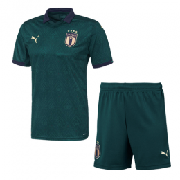 19/20 Italy Third Away Green Soccer Jerseys Kit(Shirt+Short)