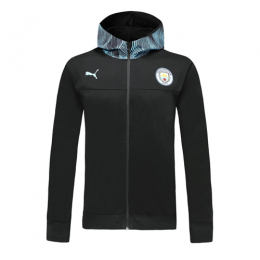 19/20 Manchester City Black Hoodie Jacket