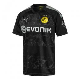 19/20 Borussia Dortmund Away Black Soccer Jerseys Shirt(Player Version)