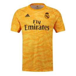 19-20 Real Madrid Goalkeeper Yellow Jerseys Shirt