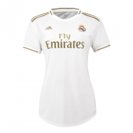 19-20 Real Madrid Home White Women's Jerseys Shirt
