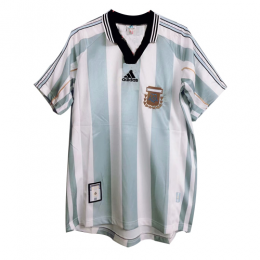 1998 World Cup Argentina Home Blue&White Retro Soccer Jerseys Shirt