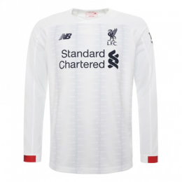 19-20 Liverpool Away White Long Sleeve Jerseys Shirt