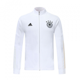 2019 Germany White High Neck Collar Training Jacket