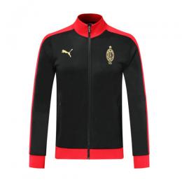 19/20 AC Milan Black High Neck Collar Training Jacket