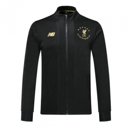 19/20 Liverpool Black High Neck Collar Training Jacket