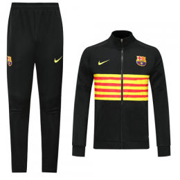 19/20 Barcelona Black&Yellow High Neck Collar Training Kit(Jacket+Trouser)