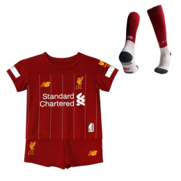 19-20 Liverpool Home Red Children's Jerseys Kit(Shirt+Short+Sock)