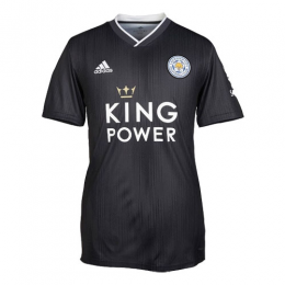 19/20 Leicester City Away Black Soccer Jerseys Shirt