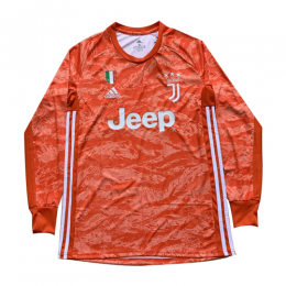 19/20 Juventus Goalkeeper Orange Long Sleeve Jerseys Shirt