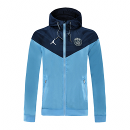 20/21 PSG Navy&Light Blue Hoodie Windrunner Jacket