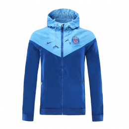 20/21 PSG Blue&Light Blue Hoodie Windrunner Jacket