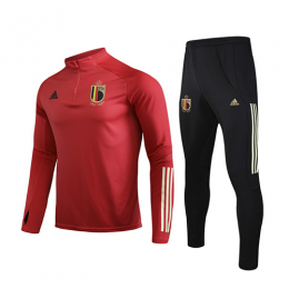 2020 Belgium Red Zipper Sweat Shirt Kit(Top+Trouser)
