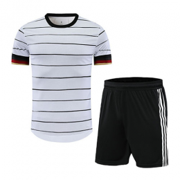 Germany Style Customize Team White Soccer Jerseys Kit(Shirt+Short)