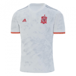 2020 Spain Away White Soccer Jerseys Shirt
