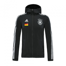 2020 Germany Black Hoody Woven Windrunner