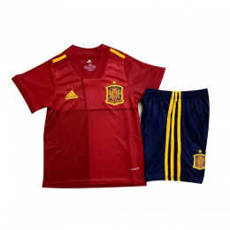 2020 Spain Home Red Children's Jerseys Kit(Shirt+Short)
