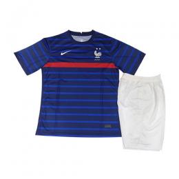 2020 France Home Blue Two Stars Children's Jerseys Kit(Shirt+Short)