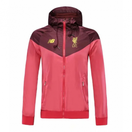 19-20 Liverpool Red Windbreaker Hoodie Jacket