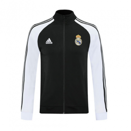20/21 Real Madrid Black High Neck Collar Training Jacket