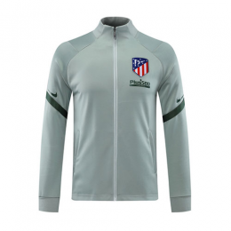 20/21 Atletico Madrid Light Gray High Neck Collar Training Jacket