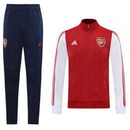 20/21 Arsenal Red&White High Neck Collar Training Kit(Jacket+Trouser)