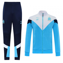 20/21 Marseille Light Blue High Neck Collar Training Kit(Jacket+Trouser)