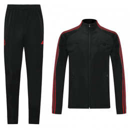 20/21 Manchester United Black High Neck Collar Training Kit(Jacket+Trouser)